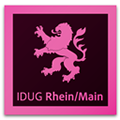 Logo of InDesign User Group Rhein/Main