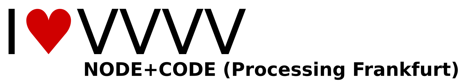 Logo of NODE+CODE (Processing Frankfurt)